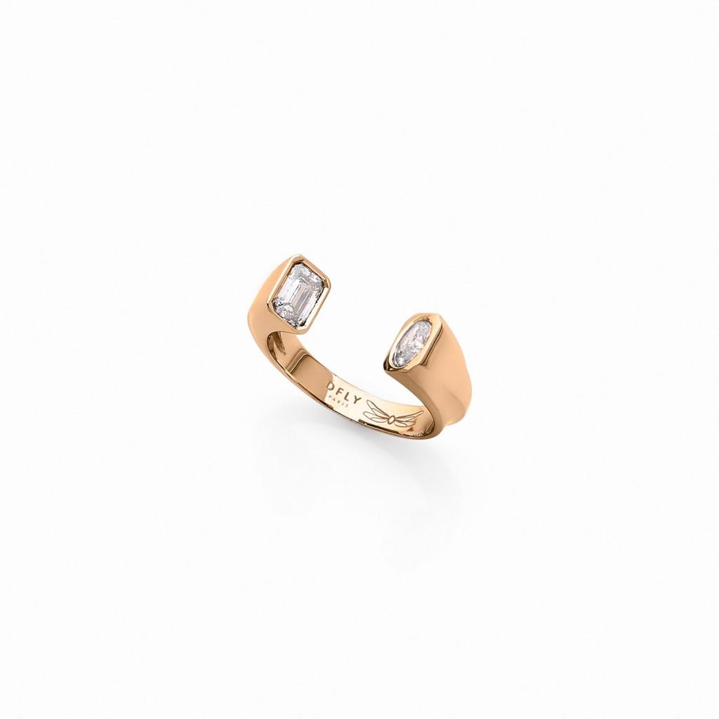 Oddity Ring 18k (750/1000) Yellow Gold. - DFLY Paris
