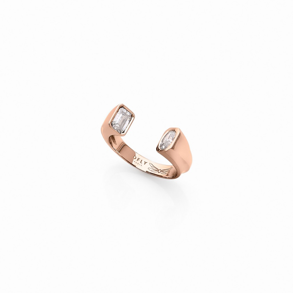 Oddity Ring 18k (750/1000) Red Gold. - DFLY Paris
