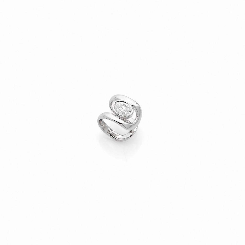Dnox Ear Cuff 18k (750/1000) White Gold. - DFLY Paris