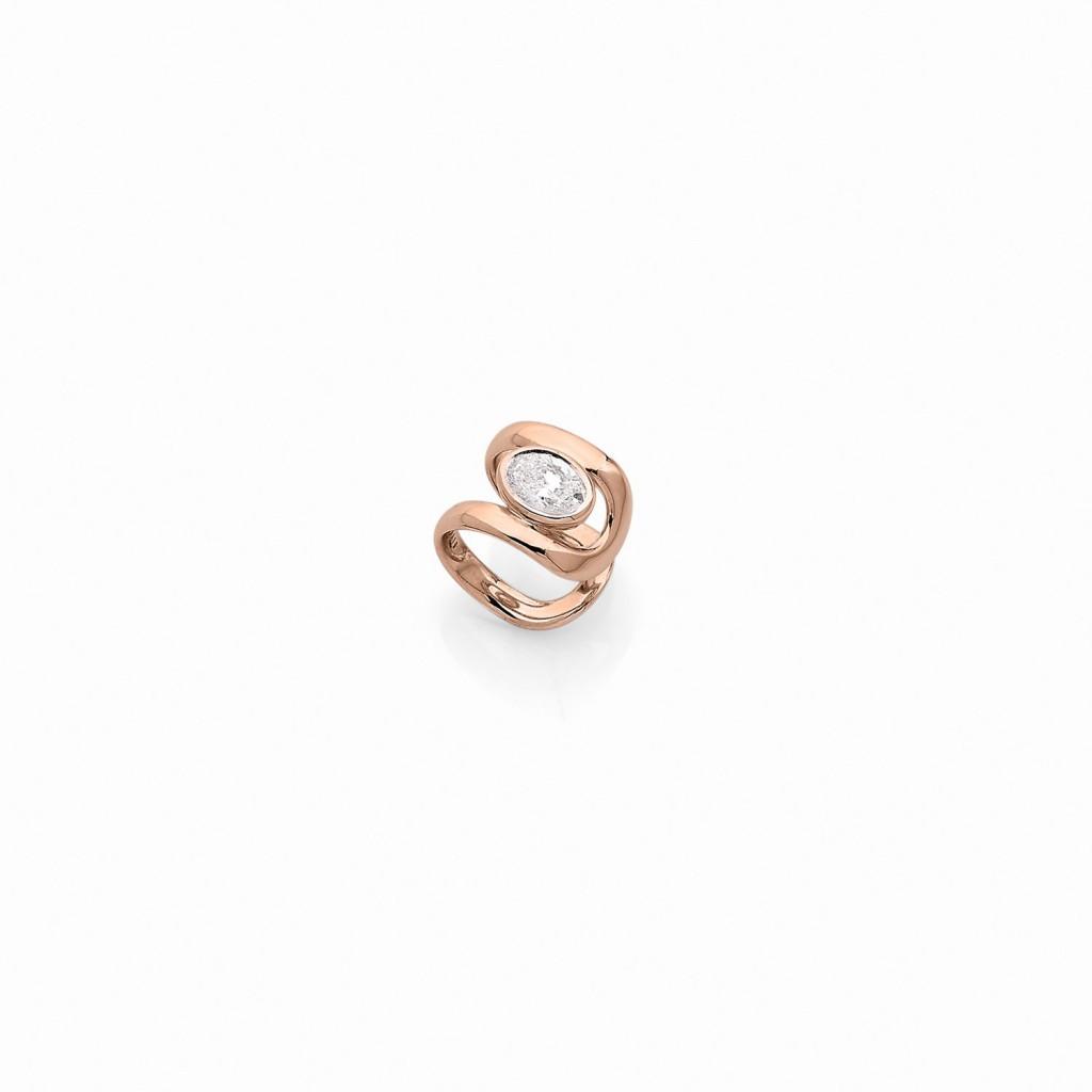 Dnox Ear Cuff 18k (750/1000) Red Gold. - DFLY Paris