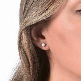 Diamondfly Ear Studs 18k (750/1000) White Gold. - DFLY Paris