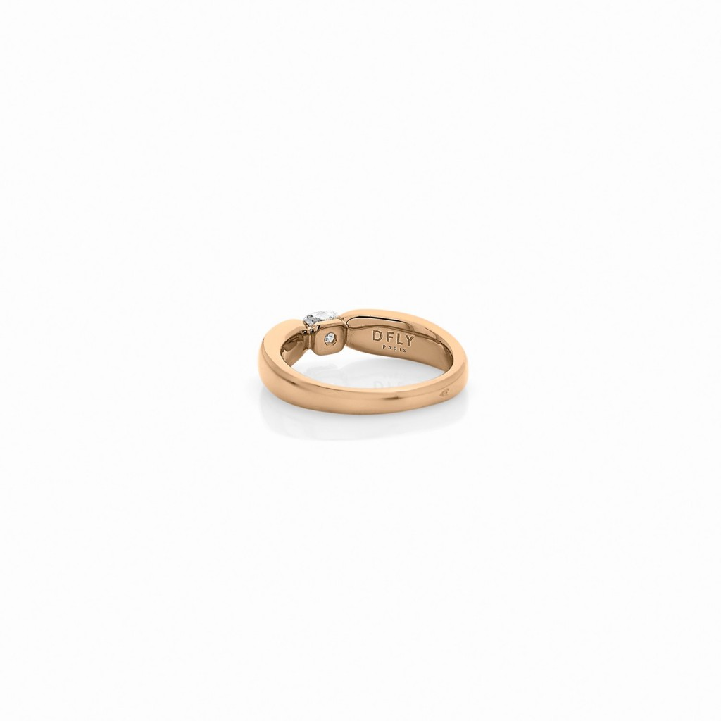 BAGUE ALCIONE Or jaune 18k (750/1000). - DFLY Paris