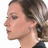 Oddity Earrings 18k (750/1000) White Gold. - DFLY Paris