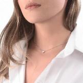 RAS DU COU COEUR DIAMONDFLY Or gris 18k (750/1000). - DFLY Paris