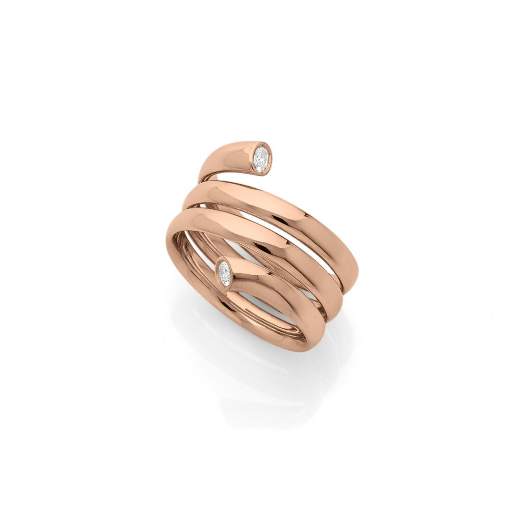 COBRA RING 18k (750/1000) Red Gold. - DFLY Paris