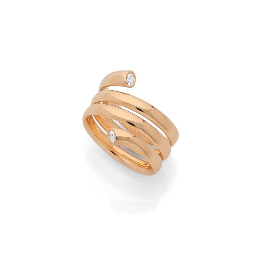 COBRA RING 18k (750/1000) Yellow Gold. - DFLY Paris